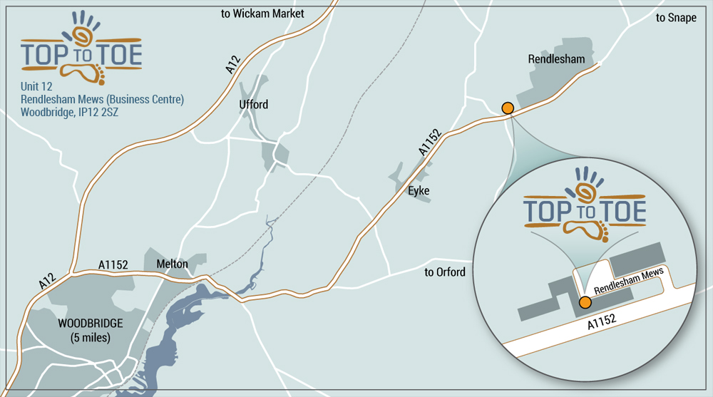 top to toe location map
